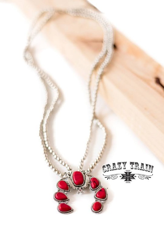 DOUBLE TAKE NECKLACE ** RED
